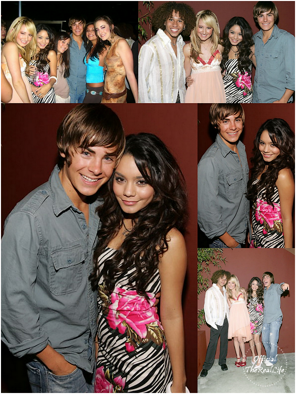 � Official-TheRealLife�  10/09/2005  ※  Vanessa et Zac pr�sent � la Ashley's Tisdale Birthday party � Los Angeles.  _