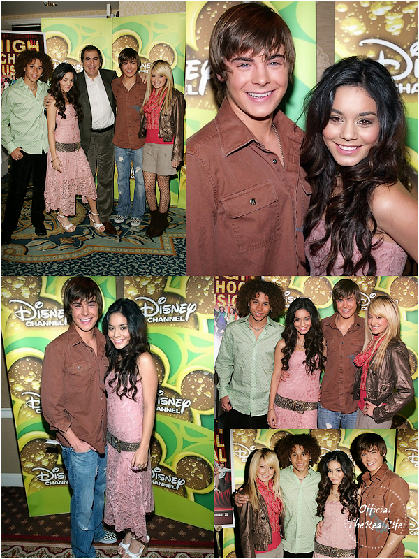 � Official-TheRealLife�  16/12/2005  ※  Zac et Vanessa au High School Musical Disney Channel Press Breakfast � Los Angeles.  _