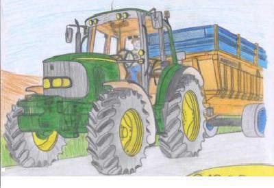 Dessins d 39 un tracteur john deere blog de gurwann fan de - Dessin a imprimer de tracteur ...